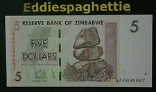 Zimbabwe 5 Dollars 2007 UNC P-66