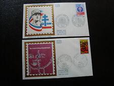 FRANCE - 2 enveloppes 1er jour 1976 (francais libre/communication) (cy42) french