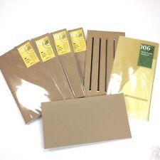 MIDORI TRAVELER'S notebook Regular size Refill LOT: 4x001, 1x006, Bands