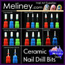Ceramic Nail Drill Bit File Cuticle Buffer Under Nails Cleaner Sanding Electric