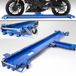 BITUXX Rangierhilfe für Motorrad Seitenständer Rangierschiene Rollwagen Rolli