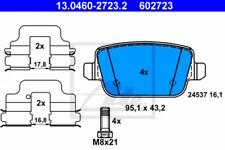 Bremsbelagsatz, Scheibenbremse für Bremsanlage Hinterachse ATE 13.0460-2723.2