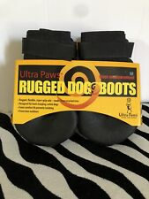 Ultra Paws Durable Rugged Dog Boots Size M Medium Black