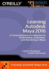 Learning Autodesk Maya 2016 Training Videos 6.5 hours - 54 tutorial videos