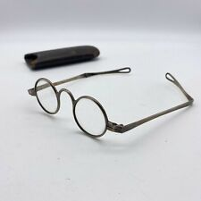 Antique Spectacles Antique  Silver Eyeglasses with Case  19th Century