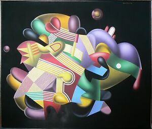 Yankel Ginzburg, The Candy Store, Acrylic on Canvas, signed u.r.