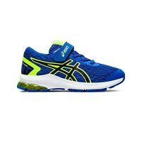 Asics GT-1000 9 Junior Kids Running Fitness Trainer Shoe Blue/White/Lime