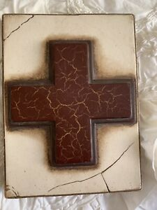 Sid Dickens T-78 The Cross Memory Block Art Wall Hanging Retired & Hard To Find