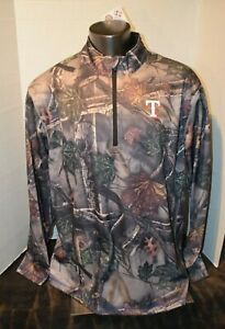 Texas Rangers MLB Majestic Brand Camo Pullover Men's Sizes M-2XL New With Tags