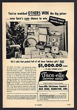 1957 FACE-ELLE CHRISTMAS CONTEST AD~VINTAGE BICYCLE~HAMILTON,ONTARIO CANADA