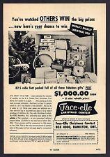 1957 FACE-ELLE CHRISTMAS CONTEST AD~VINTAGE BICYCLE~HAMILTON,ONTARIO CANADA