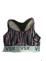 NWT VICTORIAS SECRET VSX The Player Racerback Sport Bra  Striped Multicolored M