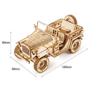 Puzzle 3D rompecabezas Jeep ejercito madera