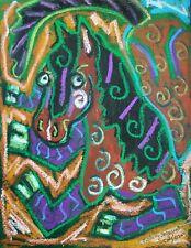 Carousel Horse Cubist Pop Folk Art Print 8x10 Horse Collectible Cubism by KSams