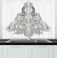 "Eastern Oriental Kitchen Curtains 2 Panel Set Window Drapes 55"" X 39"""