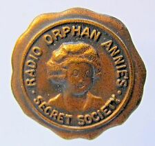 1934 RADIO ORPHAN ANNIE SECRET SOCIETY Member Pinback badge Ovaltine Premium