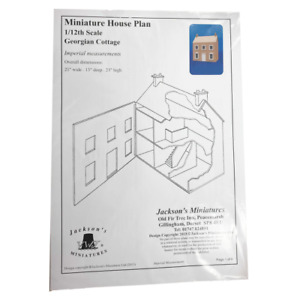 Dolls House Plans Build Your Own 1:12 Georgian Cottage with Hinged Roof
