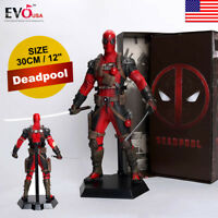 "12"" Marvel Deadpool Action Figure Toy Collectible PVC Model Superhero Gift"