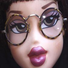 Rétro ancienne monture de lunettes vintage métal et couleur tortue marron beige