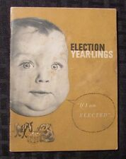 1959 ELECTION YEAR-LINGS Booklet VG- 48 pgs Baby Photos w/ Funny Captions