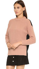 ESSENTIEL ANTWERP Kraku two tone sweater M chunky knit rose black Italy