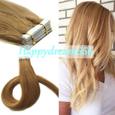 "Tape in Hair Extensions 100% Remy Human Hair 16"" 18"" 20"" 22"" Seamless Reusable"