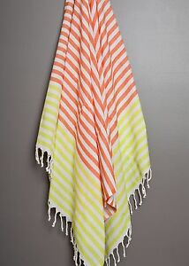 Stripe Turkish Towel 100% Cotton Peshtemal Fouta Hammam Beach Bath Towel