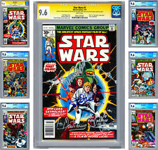 STAR WARS #1-6 CGC-SS 9.6 ISSUE #1 CAST SIGNED 4X COMPLETE MOVIE ADAPTATION 1977
