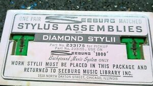 Seeburg 1000 Background Music Stylii T Needles stylus, green