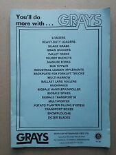 Grays range folder with 19 different Leaflet/Brochures  1980's??