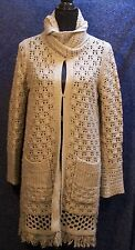 Heather B Taupe XL Long Cardigan Sweater