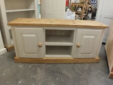 SOMERSET PAINTED PLASMA TV UNIT HAND MADE SOLID BESPOKE COLOUR SIZE F&B CLUNCH