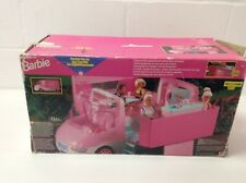 Barbie Camper Van And 2 Dolls With Furniture