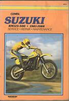 1981-1988 CLYMER SUZUKI  MOTORCYCLE RM125-500 SERVICE  MANUAL