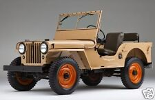 1945 Willys JEEP CJ2A, Refrigerator Magnet, FRONT ANGLE VIEW, 40 MIL THICK