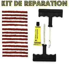kit de reparation crevaison + 13 mèches pour pneu voiture quad moto ...