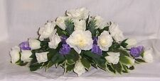 wedding flowers top table decoration lilac & ivory