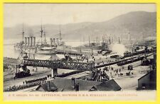 cpa RARE NEW ZEALAND LYTTELTON ROYAL NAVY Showing HMS EURYALUS and CHALLENGER