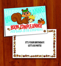 BUON COMPLEANNO -- ITALIAN HAPPY BIRTHDAY CARD