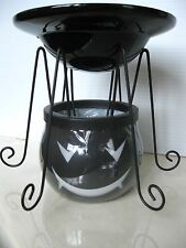 YANKEE CANDLE HALLOWEEN BLACK SPIDER TART WARMER BURNER VHTF NEW