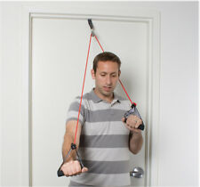Cando shoulder pulley with exercise tubing and handles, Red - light 1147502 NEW