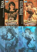 Xena Hercules H-1 H-2  H1 H2 Hologram insert trading card 2-card set