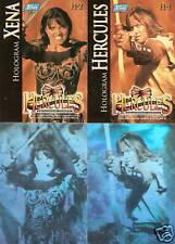 Hercules The Legendary Journeys Topps H-1 H-2  w/Xena Hologram insert card set