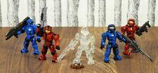 Halo Mega Bloks Lot Of 5 Spartans 96967 High Ground | Mattel / Microsoft / 343