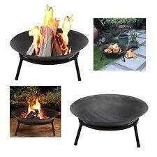 Outdoor Firepit Fire Bowl Wood Log Charcoal Burner Heater Patio Garden Basket