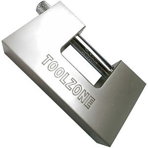 Heavy duty 100mm steel Shutter Padlock Nickel Plated. 3 keys Shutter Padlock