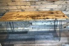 Rustic breakfast bar Made From Reclaimed Wood, On Steel Hairpin Legs