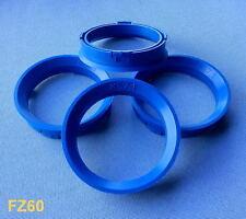 FZ60  4x  Zentrierringe  66,6 mm  57,1 mm   für Alufelgen  blau 28