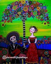 Folk Art Tree of Life Frida Kahlo Mariachi Mexican Print PRISARTS Painting