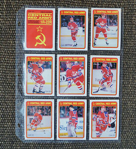 1990-1991 O-Pee-Chee Central Red army Inserts 20 of 22 cards (No Federov)